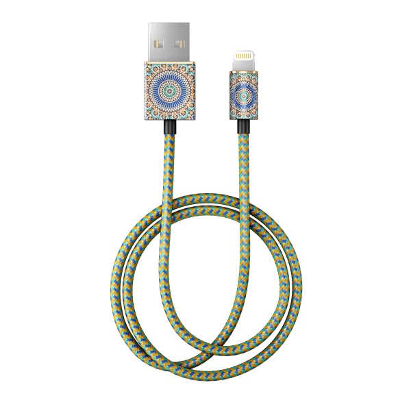 iDeal of Sweden Charge and Sync Lightning Fashion Cable 1m Moroccan Zellige