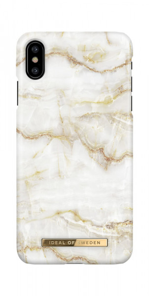 iDeal of Sweden iPhone X / XS Fashion Case Golden Pearl Marble
