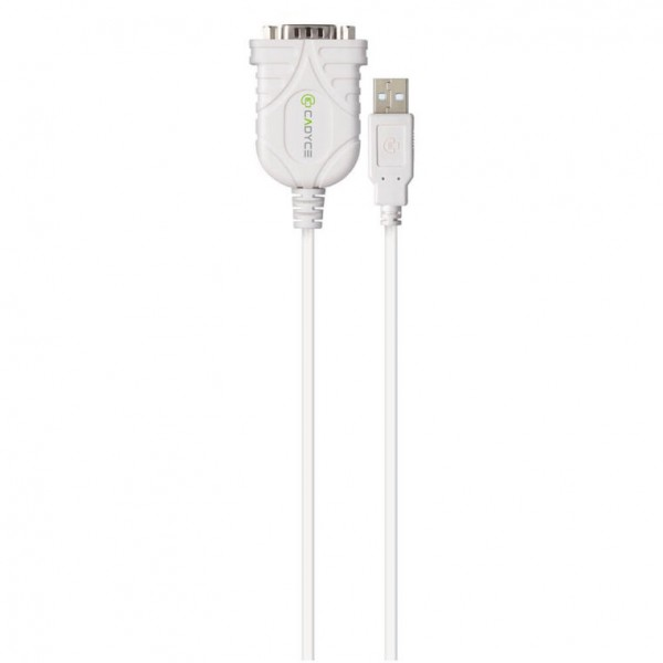 Cadyce USB naar RS-232 Serial Converter Voor o.a. Printers, Scanners en PDA's 500kB/s bestandsover
