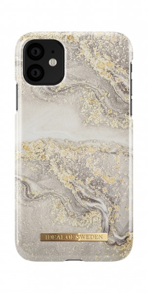 iDeal of Sweden iPhone 11 Fashion Back Case Sparkle Greige Marble