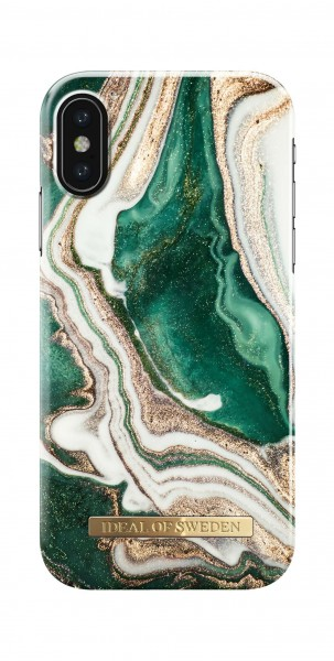 iDeal of Sweden Fashion Back Case Golden Jade Marble voor iPhone X Xs
