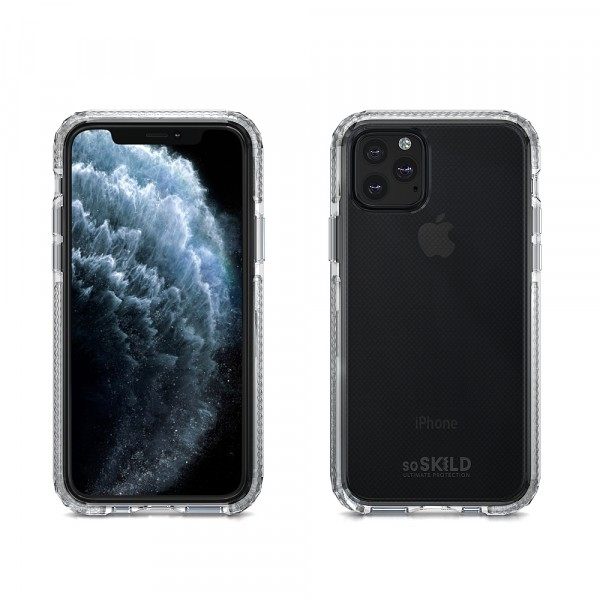 SoSkild iPhone 11 Pro Hoesje Defend Heavy Impact Case - Transparant