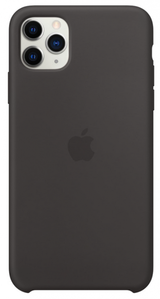 Apple iPhone 11 Pro Max Back Case Silicone Black