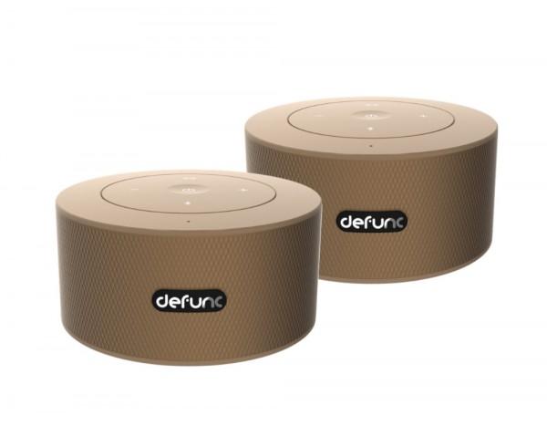 DeFunc Wireless BT Speaker DUO Set Goldish