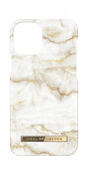 iDeal of Sweden iPhone 12 mini Fashion Back Case Golden Pearl Marble