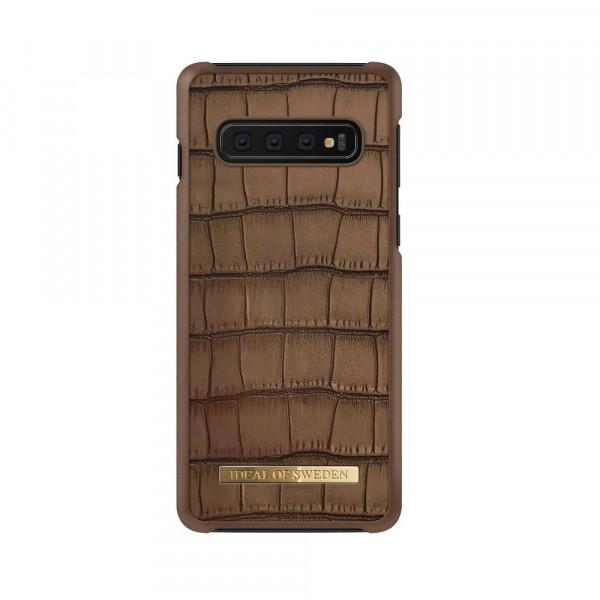 iDeal of Sweden Samsung Galaxy S10 Fashion Case Capri Brown Croco