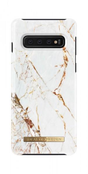 iDeal of Sweden Samsung Galaxy S10 Fashion Back Case Carrara Gold