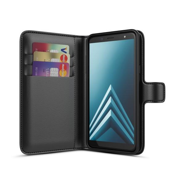 BeHello Samsung Galaxy A6 Hoesje - Gel Wallet Case Met Ruimte Voor 3 Pasjes Zwart