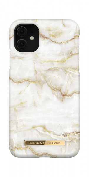iDeal of Sweden iPhone 11 / XR Fashion Case Golden Pearl Marble