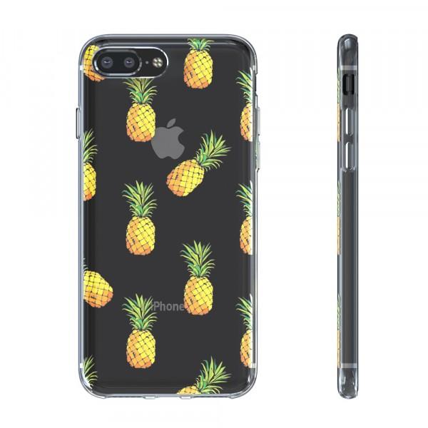 BeHello Premium Gel Case Pineapple voor iPhone 8 Plus 7 Plus