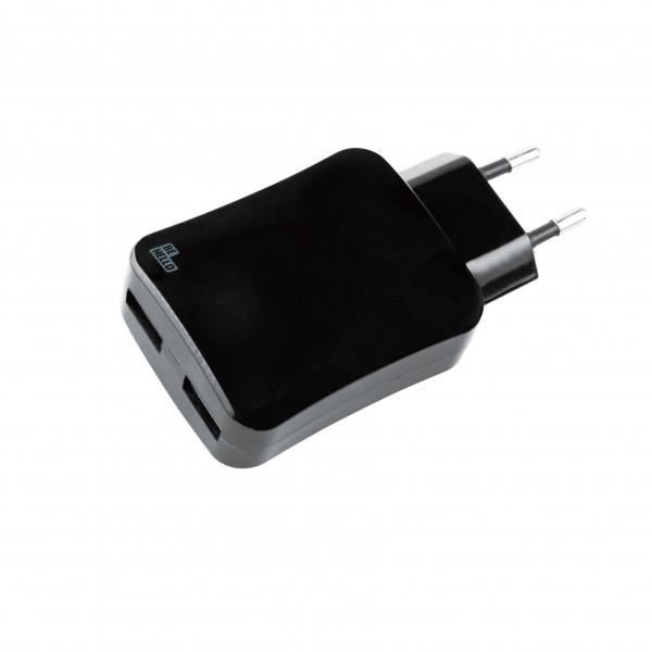 BeHello Oplader met 2 USB-poorten 4.2A Zwart