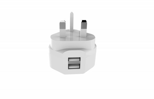 BeHello Oplader met Engelse stekker - 2 USB-A poorten - Type G stekker - 3.4 A - Wit