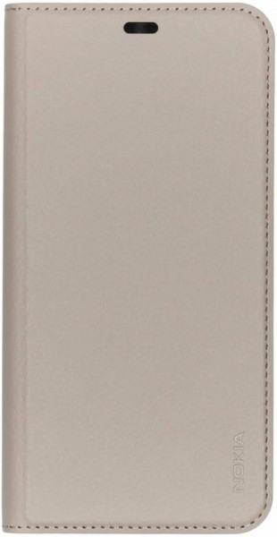 Nokia 8.1 Slim Flip Book Case Grey