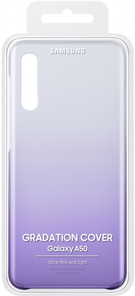 Samsung Galaxy A50 Gradation Clear Cover Violet
