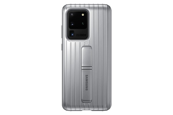 Samsung Galaxy S20 Ultra Protective Standing Cover Silver