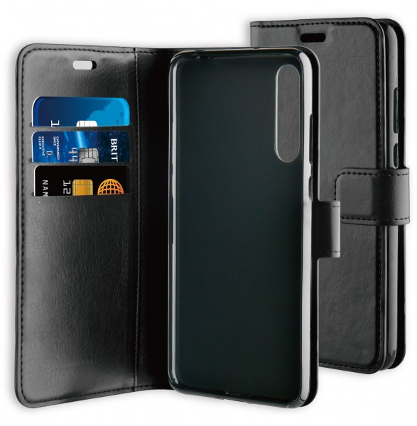 BeHello Gel Wallet Case Zwart voor Huawei P20 Pro