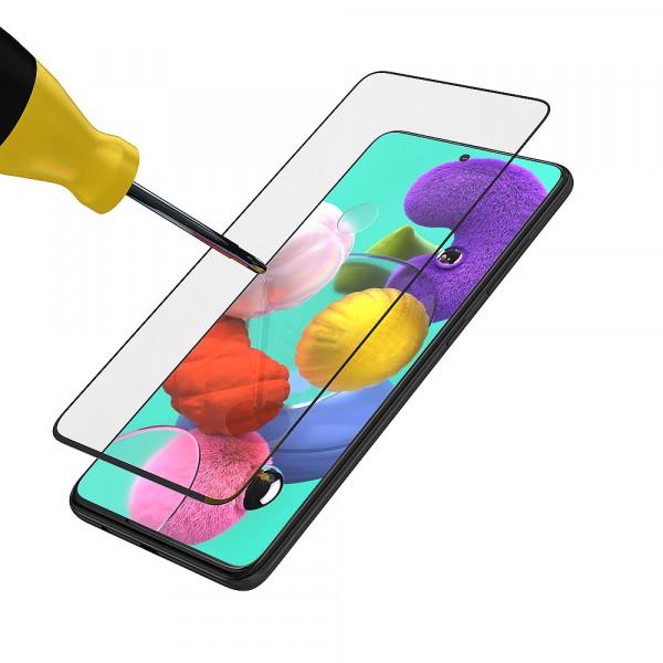BeHello Samsung Galaxy A51 Screenprotector Tempered Glass - High Impact Glass