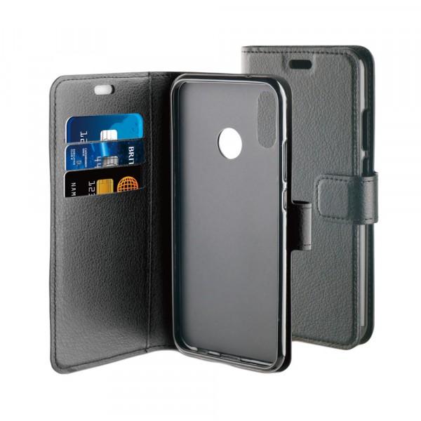 BeHello Hoesje - Gel Wallet Case Met Ruimte Voor 3 Pasjes Zwart voor Huawei P20 Lite