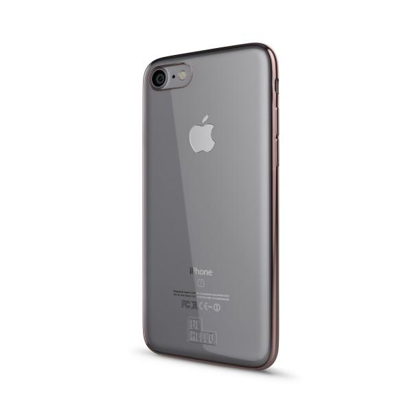 BeHello iPhone 8 7 6S 6 Gel Siliconen Hoesje Chrome Edge Rose Goud