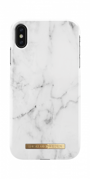 iDeal of Sweden iPhone XS Max Fashion Back Case White Marble