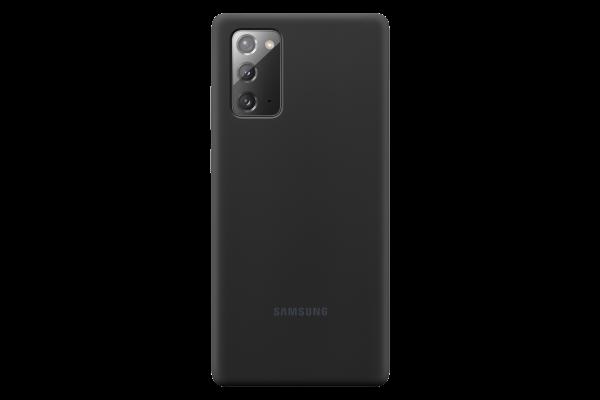 Samsung Galaxy Note20 Silicone Cover Mystic Zwart