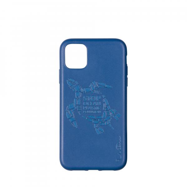 Wilma Smartphone Eco Case Bio Degradeable Tone-in-Tone Matte Turtle Dark Blue voor iPhone 11