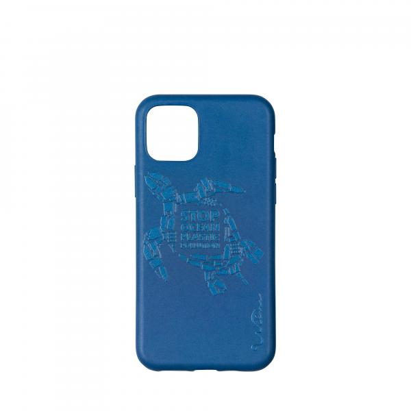 Wilma Smartphone Eco Case Bio Degradeable Tone-in-Tone Matte Turtle Dark Blue voor iPhone 11 Pro