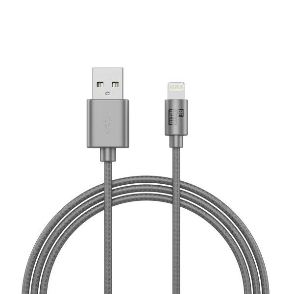 BeHello Charge and Sync Cable - Lightning (1m) Braided Silver
