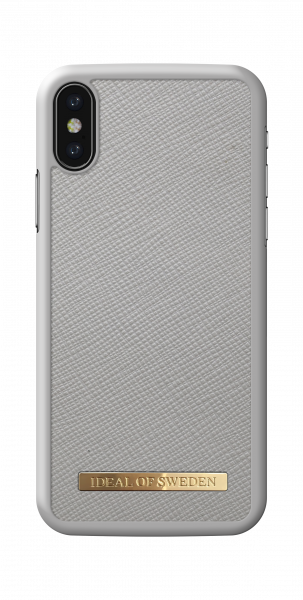 iDeal of Sweden iPhone XS/X Fashion Case Saffiano Light Grey