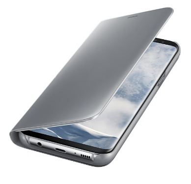 Samsung Galaxy S8+ Clear View Standing Cover Silver