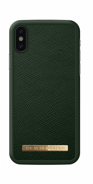 iDeal of Sweden iPhone XS Fashion Case Saffiano Green