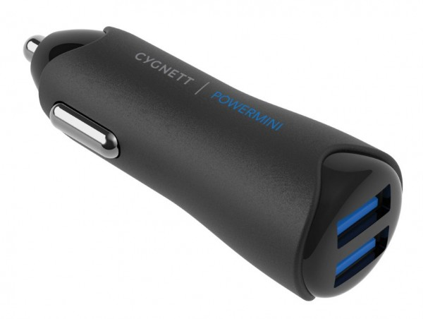 Cygnett PowerMini Auto oplader 4.8 A 2x USB 3.0 aansluitingen Super-fast Charge Wit Voor oa Sam