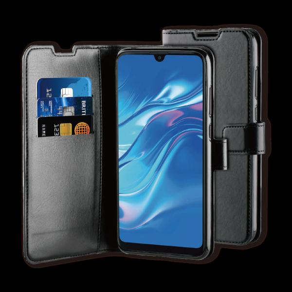 BeHello Huawei Y7 (2019) Hoesje - Gel Wallet Case Met Ruimte Voor 3 Pasjes Zwart