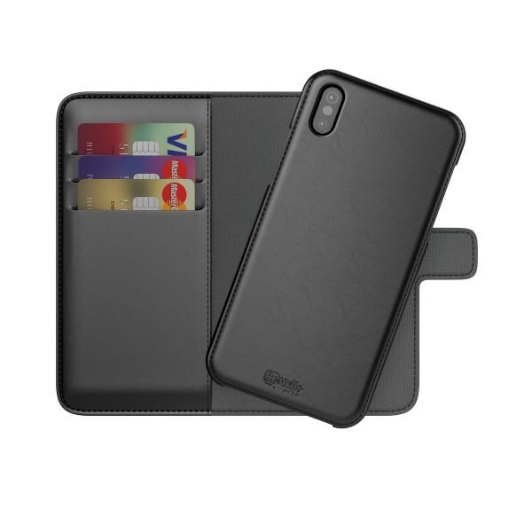 BeHello iPhone X XS Hoesje I 2-in-1 Wallet Case met Ruimte Voor 3 Pasjes Zwart