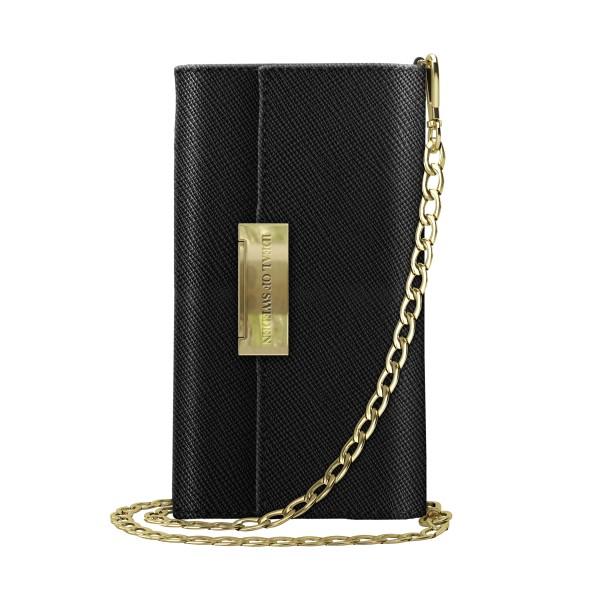 iDeal of Sweden iPhone Xr Crossbody Wallet Saffiano Black