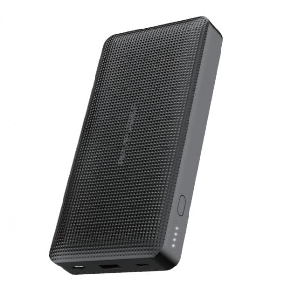 RAVPower Powerbank 20.000 mAh Zwart Ultra Dun Design 2 USB-C Poorten Quick Charge 3.0 45W Power