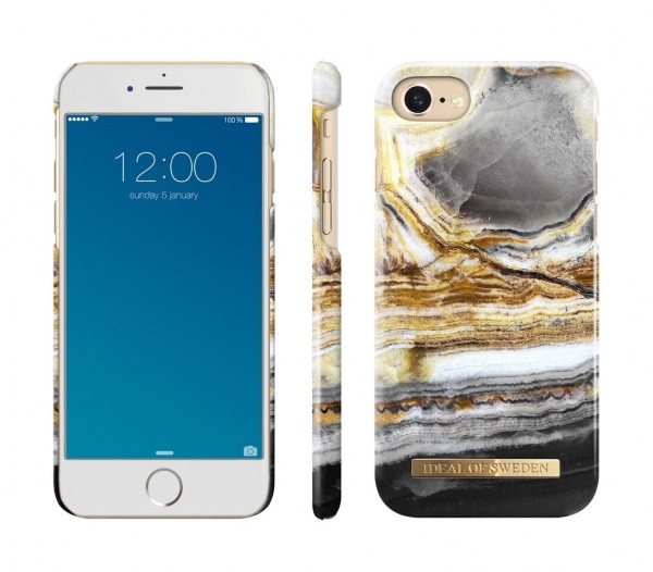 iDeal of Sweden Fashion Back Case Outer Space Agate voor iPhone 8 / 7 / 6 / 6S