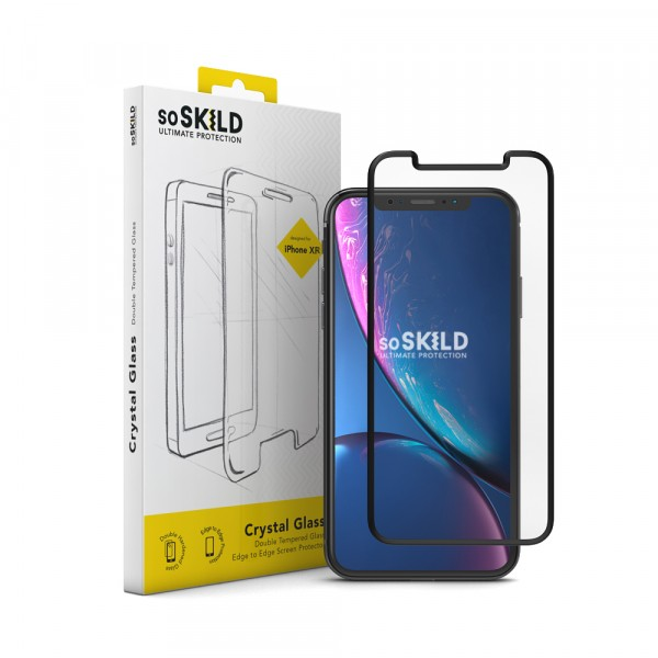 SoSkild Screenprotector Crystal Double Tempered Glass Screen voor iPhone Xr