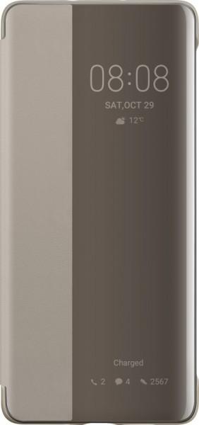 Huawei P30 Pro View Flip Cover Case Khaki