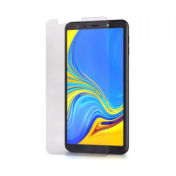 BeHello Samsung Galaxy A7 (2018) Screenprotector Tempered Glass - High Impact Glass