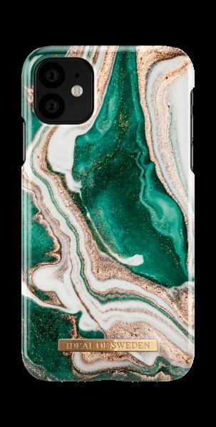 iDeal of Sweden iPhone 11 Fashion Back Case Golden Jade Marble