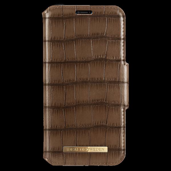 iDeal of Sweden iPhone XS Max Fashion Wallet Capri & Como Brown Croco