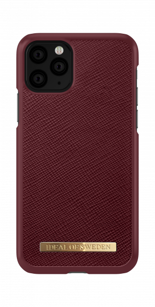 iDeal of Sweden iPhone 11 Pro Fashion Case Saffiano Burgundy