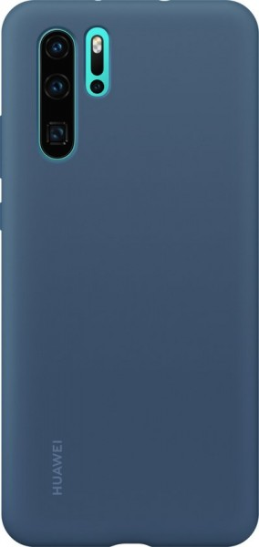 Huawei P30 Pro Silicone Cover Case Blauw