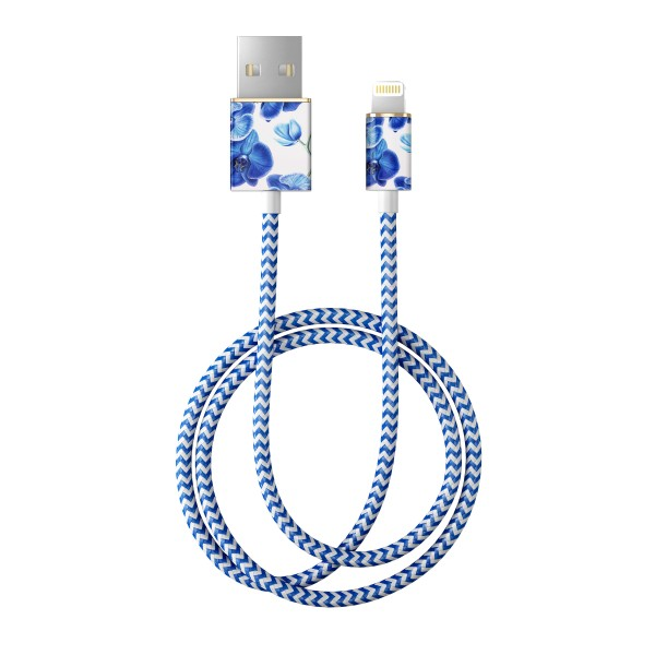 iDeal of Sweden Charge and Sync Lightning Fashion Cable 1m Baby Blauw Orchid