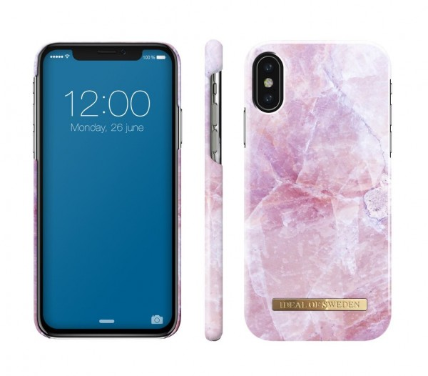 iDeal of Sweden Fashion Back Case Pilion Pink Marble voor iPhone Xs X