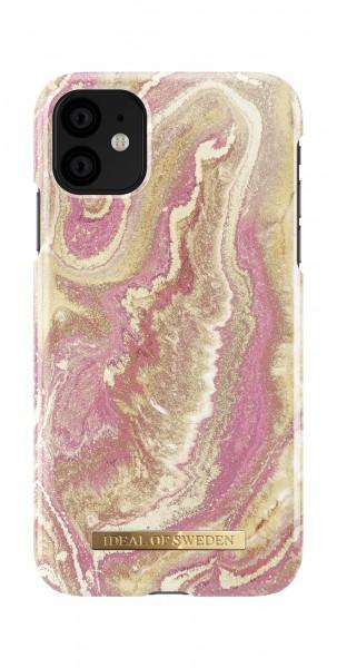 iDeal of Sweden iPhone 11 Fashion Back Case Golden Blush Marble