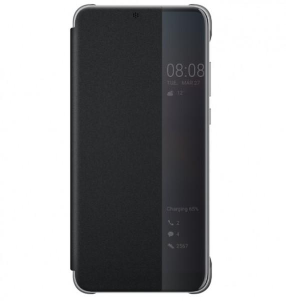 Huawei View Flip Cover Zwart voor Huawei P20 Pro