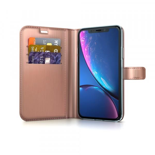 BeHello Gel Wallet Case Rose Gold voor iPhone Xr