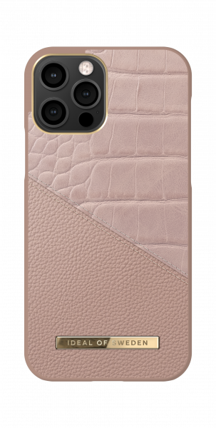 iDeal of Sweden iPhone 12 / 12 Pro Fashion Back Case Rose Smoke Croco